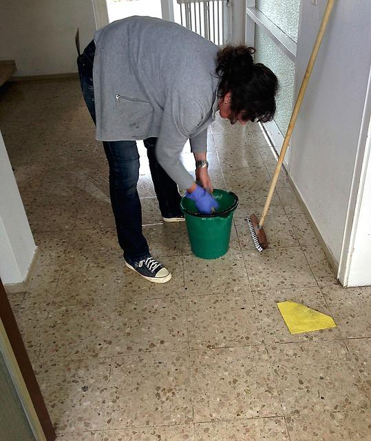 Putzen während der Ferien